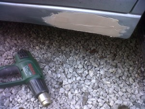 Bumper Repair Second Body Filler Application